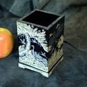 Карандашница, инкрустированная натуральным перламутром USEL-MP30 фото