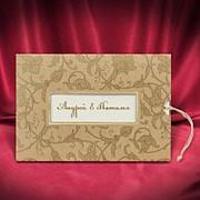 Золотистые приглашения на свадьбу (арт. 5543) фото