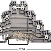 Клемма соединительная (проходная) трёхярусная Klemsan серии PUK фото