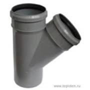 Тройник кан.110/110/90 РР серый фото