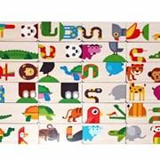 Развивающая игра Домино Тропические животные фото