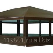 Дымник для дымохода четырехскатный 900х600 RAL 8017 коричневый фото