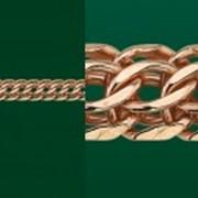 Цепочка золотая Гарибальди ширина 4,5мм фото