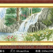 Картина стразами Водопад 66х43 см фото