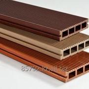 Заборный профиль из древесно-полимерного композита фото