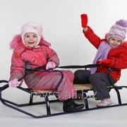 Санки детские двухместные ZM-1704 фото