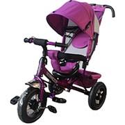 Велосипед трехколесный TILLY Trike T-364 с надувными колесами, фиолетовый фото