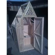 Туалет  деревянный  в сборе - от производителя.  фото
