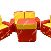 Комплект мягконабивной мебели для детей Бантик(без стола) фото