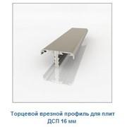 Торцевой врезной профиль для плит ДСП 16 мм фото