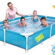 Детский каркасный бассейн Bestway 56219 Steel Pro Frame Poo (221см х 150см х 43см) фото