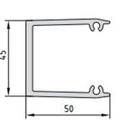 Профиль закладной для крепления ригелей к стойке ТП-5004 фото
