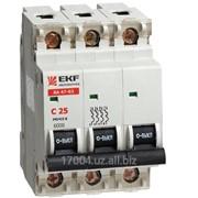 Автоматический выключатель Вам63-3Р-2,3,4,6,10,16,20,25,32,40,50,63А фото