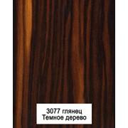 Пластиковый кухонный фасад 3077 темное дерево фото
