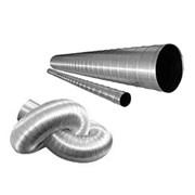 Воздуховод алюминевый (3м. 0,1 мм) фото