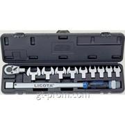 Динамометрический ключ в наборе со сменными насадками, 11пр., 40-210Нм AQC-S001NM