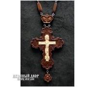 Крест наперсный из красного дерева с цепочкой Код товара:О Rev-k-01 фото