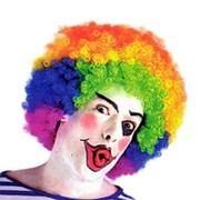 Карнавальный парик Кудрявый разноцветный фото