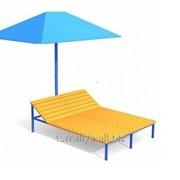 Лежак двухместный с зонтом фото