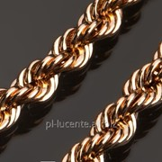 18к Пустотелая золотая цепь Корда 5мм с алмазной обработкой