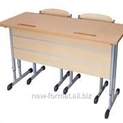 Комплект школьной мебели на плоскоовальной трубе 4-6 группа роста фото