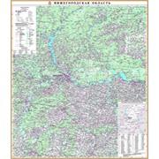 Настенная карта Нижегородской области 2 фото