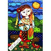 Канва для вышивки картины бисером Дева серия Украинский гороскоп БС Солес фото