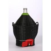 Бутыль-демиджон с краном для вина и пластиковой крышкой,54 литра фото