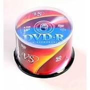 Диск DVD-R VS 4,7GB, 16x, cakebox/50шт, записываемый фото