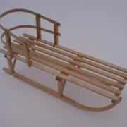 Санки деревянные «Слалом» фото
