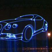Лазерная реклама фото