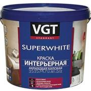 Краска ВГТ акриловая для стен ВД-АК-2180 супербелая (влагостойкая) 7кг фото