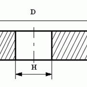 Круги из кубического нитрида бора (КНБ) шлифовальные плоские с полукругло-выпуклым профилем на керамической связке формы 1F1 фото
