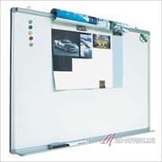 Магнитно маркерная доска для рисования на стену белая офисная 120х90 INDEX с зажимом EasyGrip фото