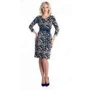 Платье с поясом 266-12 фото
