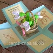 Открытка Цветы в корзинке фото