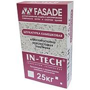 Штукатурка In-Teck Fasade декоративная камешковая белая 25 кг фото
