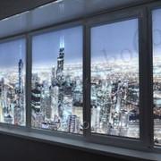 Жалюзи на балкон, жалюзи на окна, Рулонные шторы на пластиковое окно Uni-1 фото