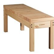 Скамья деревянная без спинки Лахти 2 фото