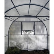 Теплица из поликарбоната 4 х 2,5 х 2,25 фото