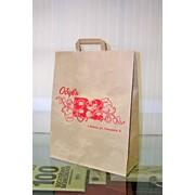 Пакеты бумажные с фирменной символикой фото