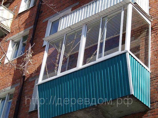 Остекление балконов и лоджий с выносом в москве (устройство .