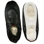 Чешки гимнастические кожанные, цвет черный, р-р 35 фото