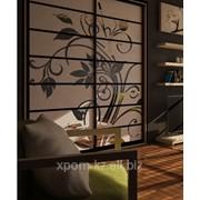 Нанесение пескоструйных рисунков на стеклянные двери фото