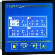 Измеритель-архиватор температуры Термодат-17Е5 - 4 универсальных входа, 1 дискретный вход, 4 симисторных выхода, 1 реле, интерфейс RS485, архивная память фото