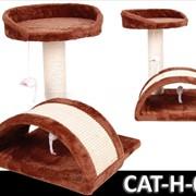Когтеточка домик игровой комплекс для кота дряпка H-09 фото