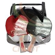 Набор для настольного тенниса (2 ракетки, 3 шарика, сетка с креплением) фото