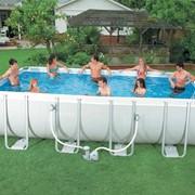 Каркасный бассейн Intex Rectangular Ultra Frame 28350 (400x200x100 см.) фото
