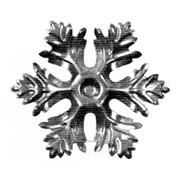 Изделие из металла цветок HY-543 d 78х1, артикул 14595 фото