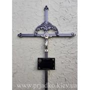 Крест сварной ритуальный с элементами ковки фото
